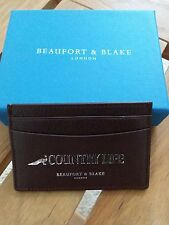 small leather card holder by Beauford&Blake London