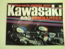 1969 Kawasaki 650cc Model W2SS & W2TT motorcycle sales brochure (Reprint)  $9.00