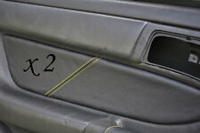 YELLOW STITCH FITS TOYOTA CELICA GT4 T18 90-93 2X DOOR CARD LEATHER TRIM COVER