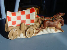 VINTAGE COVERED WAGON  RALSTON PURINA CHUCK WAGON SQUEEZE TOY SQUEAKER 1975