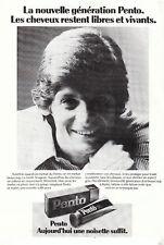 Publicité ancienne Pento pour cheveux 1976 issue de magazine