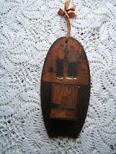 Vintage Dutch Wood Match Holder Made in Holland