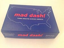 Mad Dash Geography US States Borders Strategy Board Game Complete Vintage 1991