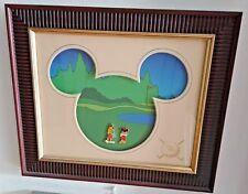 Disney Mickey and Goofy Golf Course Green Caddy Framed LE 250 Pin Set RARE