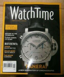 WatchTime magazine Oct 2021 Luminor Panerai + Omega vs Rolex, Tag Heuer Carrera