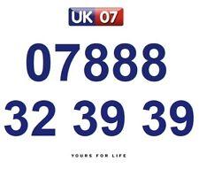 07888 32 39 39 Gold Easy Memorable Business Platinum VIP UK Mobile Phone Number