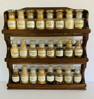 Vintage 70s Mid Century Modern John Wagner Sons Apothecary Wood Wall Spice Rack