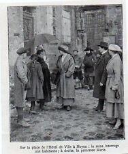 1919  --  LA REINE DES BELGES  PLACE DE L HOTEL DE VILLE A NOYON  3K962
