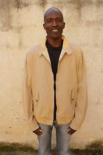 Henry Cotton's Mens Jacket Beige Bomber Cotton Coat Jacket Spring 56 XL Uk 46