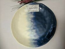 "Tommy Bahama Nautical 9"" Side Salad MELAMINE  One Plate Two Tone Blue"