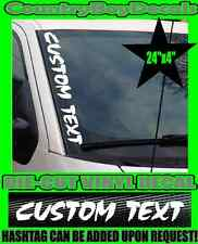 CUSTOM TEXT VERTICAL Windshield Vinyl Side Decal Sticker Car Truck Diesel Boost