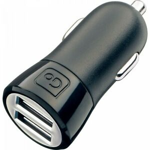Go Travel E8 4.2A USB IN-Car Express Double Charger Adapter - Black 037