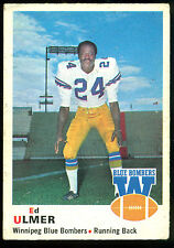 1970 OPC O PEE CHEE CFL FOOTBALL 70 ED ULMER EX WINNIPEG BLUE BOMBERS OHIO STATE