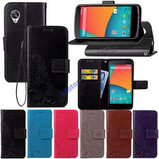 For Google LG Nexus 5 5X 6P Pixel XL Retro Leather Wallet Card Holder Case Cover