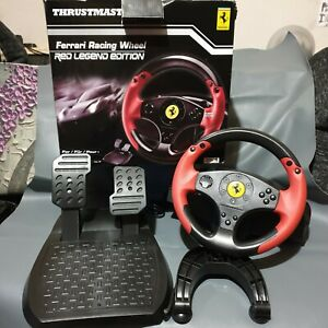 Thrustmaster Ferrari Red Legend Edition Racing Steering Wheel Set for PS3 PS4 PC