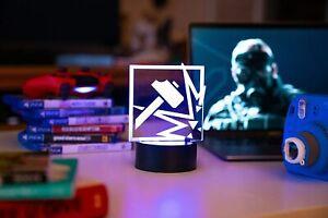 Rainbow Six Siege Sledge LED Lamp Color Changing Nightlight for Gaming Studio
