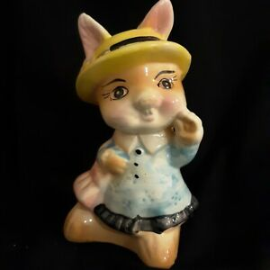 Vintage  Bank Mrs. RABBIT  Porcelain