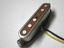 Red TOP A2/5 Telecaster Neck Open Cover  PICKUP HandWound Tele By Q