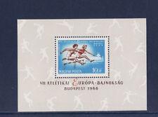 Hongrie  bloc  championnat Europe d' atthlétisme   1966   num: BF 60    **