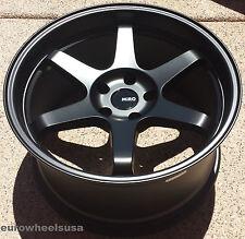 18x9.5 +34 Miro 398 5x114.3 Matte Black Wheels Set For NISSAN 300ZX Z33 nismo