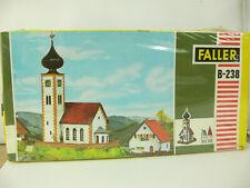 B024) FALLER Bausatz  B-238 Kirche ungebaut NEU Alten Originalkarton