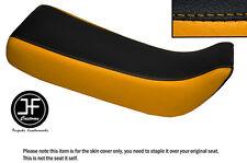 Vinilo Negro y Amarillo Personalizado SE AJUSTA a HONDA Xr 100 R 85-97 Doble Cubierta de asiento solamente