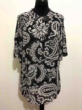 Byblos Vintage '80 Women's Shirt Oversize Rayon Woman Maxi Shirt Sz. L - Xl