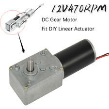Dc Gear Motor 12v 470rpm With Electric Gearbox Reducer High Torque For Diy