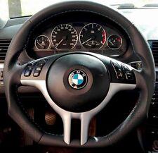 BMW E46 E39 E53. VOLANTE in pelle NUOVA M ALIMENTAZIONE CUCITURA. Lenkrad NEU Leder