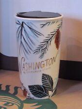 NWT 2017 Starbucks Washington State Tumbler Traveler Mug 12 oz. Original