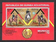 Jeux Olympiques d' été Guinée Equatoriale (80) bloc oblitéré