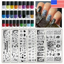 BORN PRETTY Stamping Plates Geometry Flower Nail Art Stamp Polish Stamper Set