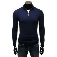 Jersey de hombre azul de poliamida