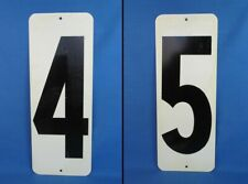 """GAS STATION PUMP PRICE NUMBER SIGN TAG 16"""" X 6""""  DOUBLE SIDED METAL 4 & 5"""