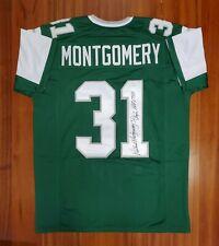 Wilbert Montgomery Autographed Signed Jersey Philadelphia Eagles JSA