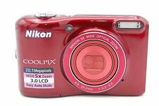 NIKON COOLPIX L28 20.1MP 3''SCREEN 5x ZOOM DIGITAL CAMERA RED