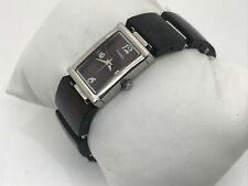 Fossil Ladies Watch Wood Metal Unique Band Analog Silver/Brown Tone Wrist Watch