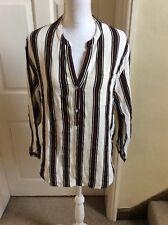 Circle Of Trust Stiped Cotton Shirt Size M UK 12