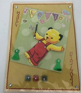 sooty and sweep Sooty handcrafted Birthday card
