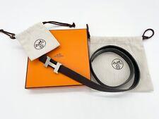 Original Mini Constantine HERMES belt buckle & Reversible belt strap.