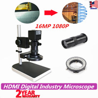 16MP 1080P HD Digital Industry Video Inspection Microscope Camera Set Stand TOP
