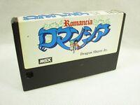 MSX ROMANCIA Dragon Slayer Jr. Cartridge only Import Japan Video Game msx