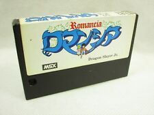 Msx Romancia Dragon Slayer Jr.Seulement à Cartouche Import Japon Video Game Msx