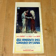 GLI AMANTI DEL CHIARO DI LUNA locandina poster Brigitte Bardot Boyd Vadim B44