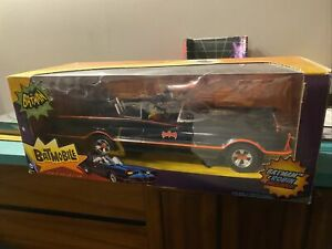 BATMAN 66 Batmobile NIB In hand 1:12 Scale Batman & Robin Mattel Rare Dc Joker