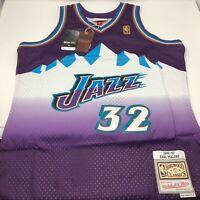 New Karl Malone Utah Jazz 1996 - 97 Mitchell & Ness Swingman NBA Jersey Size XL