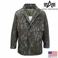 M65 Jacket Alpha Industries US Army Military Combat Field Hunting Tree Bark Camo