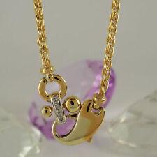 Markenlose Echtschmuck-Halsketten & -Anhänger im Collier-Stil aus Gelbgold mit Gemischte Themen