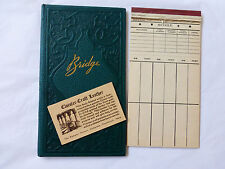 Vintage Contract Bridge Scorecards In Binder