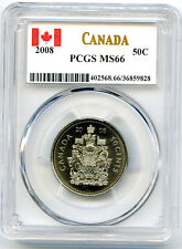 2008 CANADA 50 CENT HALF DOLLAR PCGS MS66... HIGH GRADE...CANADA LABEL